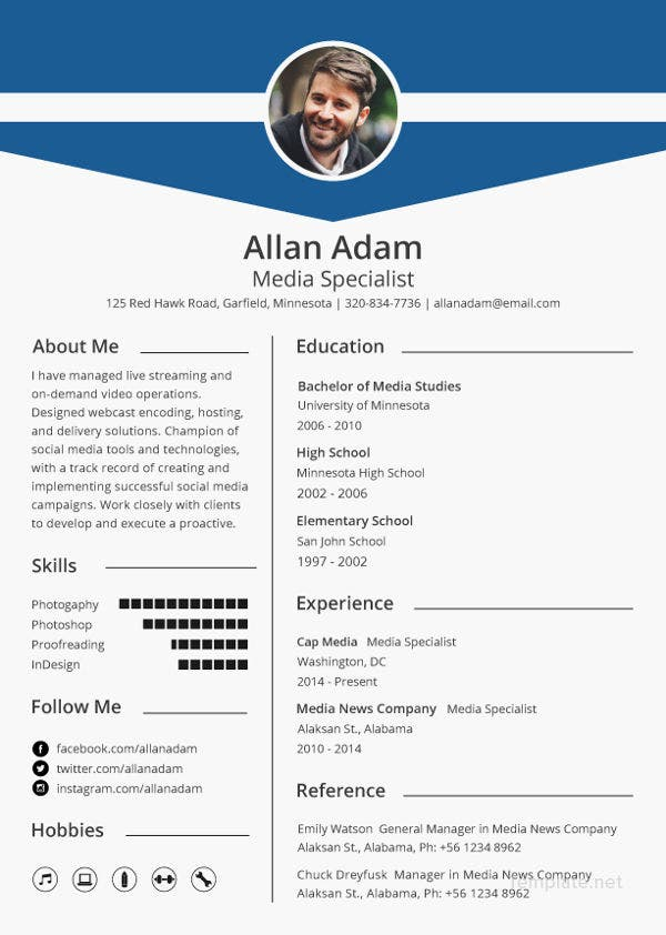 Media Resume Template 31 Free Samples Examples Format