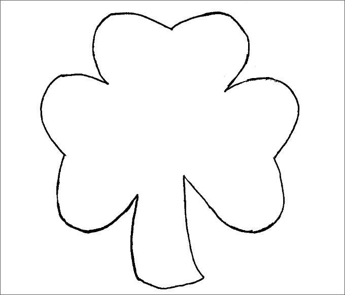 Declarative image pertaining to shamrock template free printable