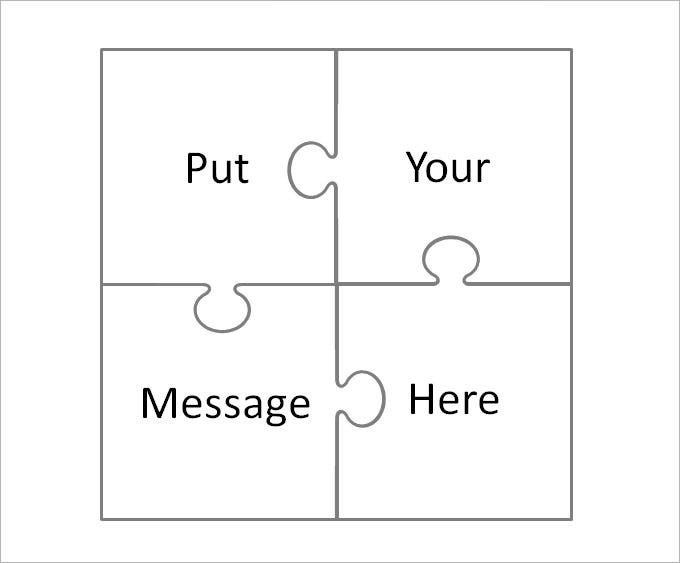 Large Puzzle Pieces Template