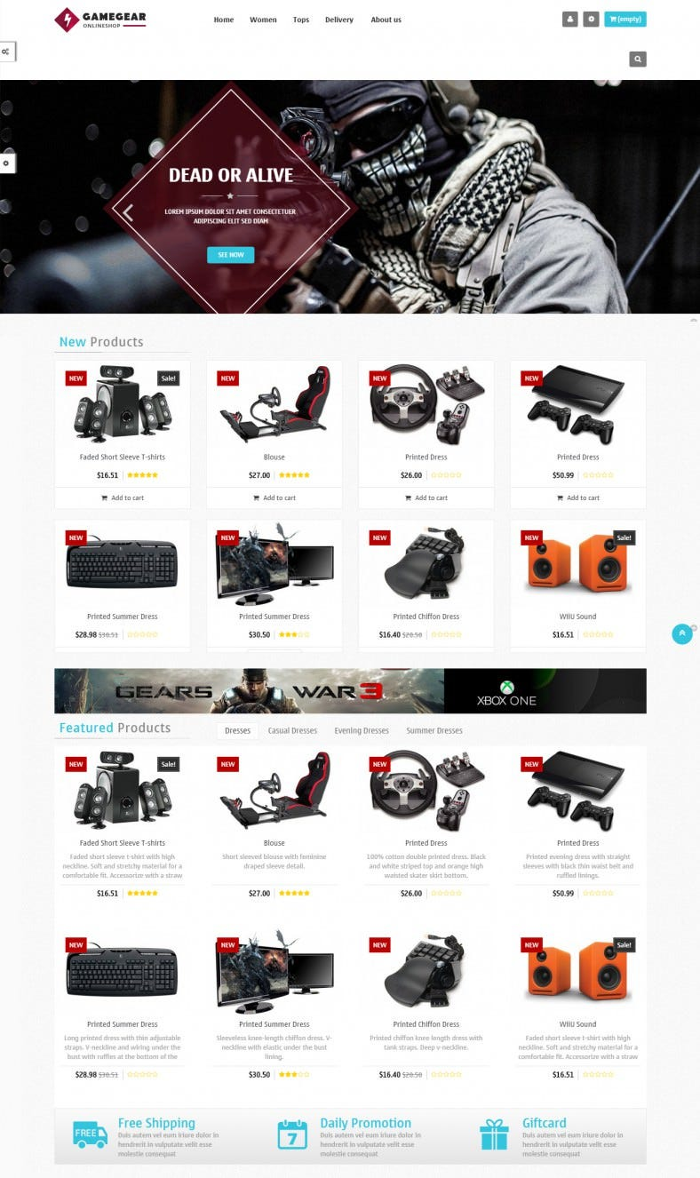 free responsive prestashop game theme 788x1326
