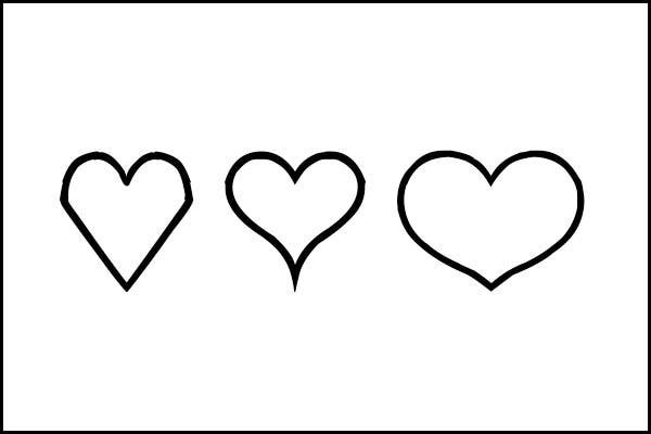Free Simple Heart Template