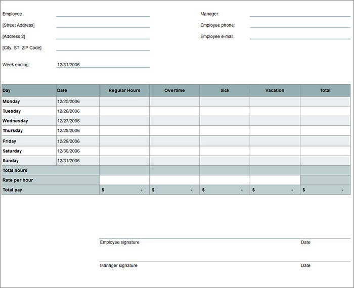 free timesheet calculator template