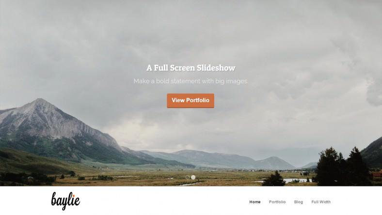 Full Screen Parallax Slideshow Wordpress Theme