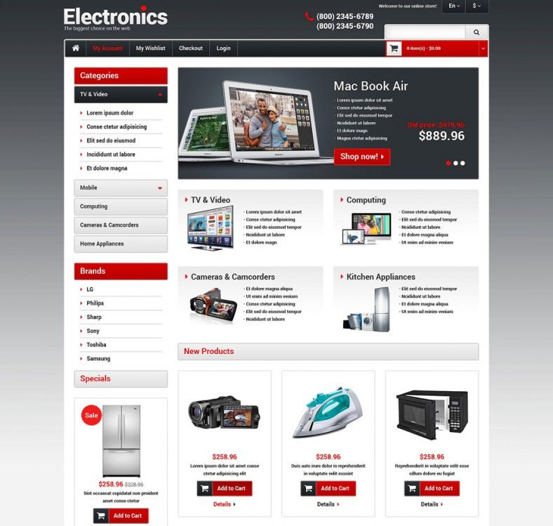 Fully Responsive Electronics Store Magento Theme