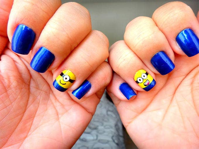 35 easy and amazing nail art designs for beginners free funky nail art design prinsesfo Images