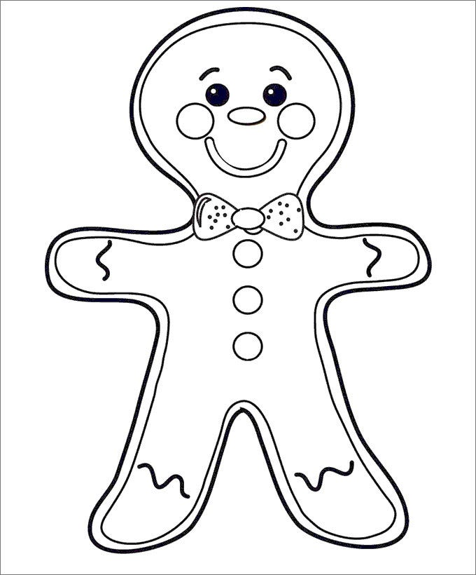 15 GingerBread Man Templates Colouring Pages