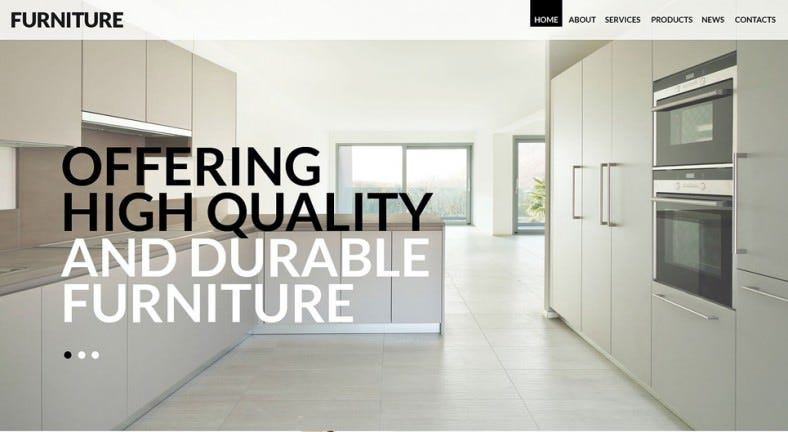 Furniture Parallax WordPress Theme