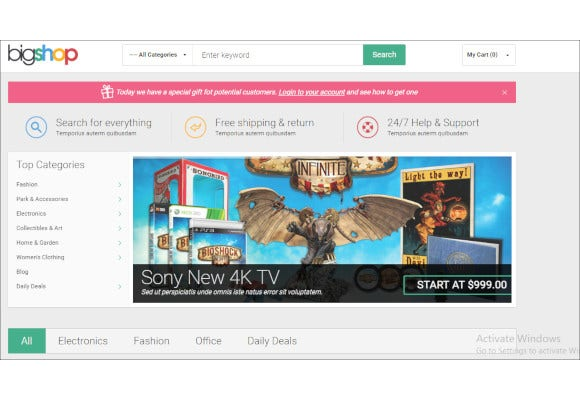 gala bigshop responsive magento theme