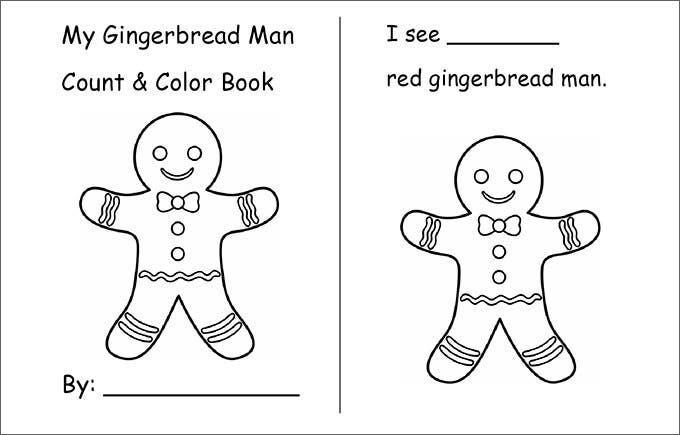GingerBread Man Book Template