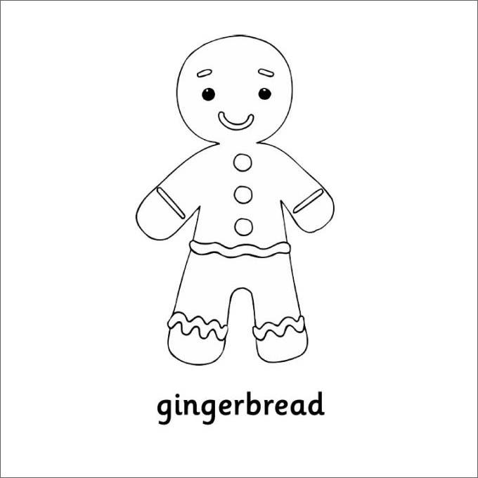 GingerBread Man Smiley Template