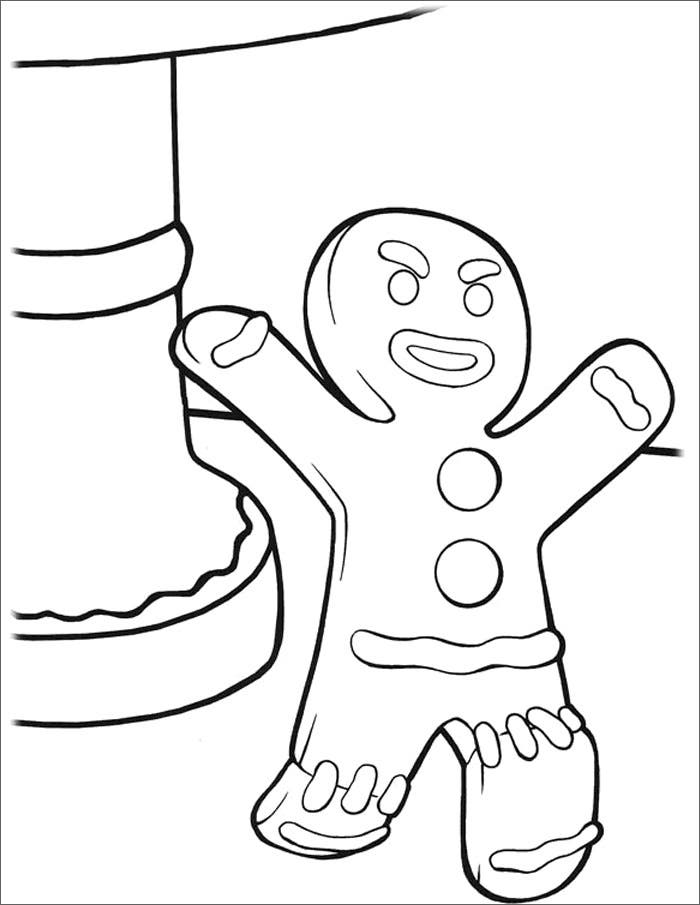 gingerbread man template free - Gingerbread Man Color Page