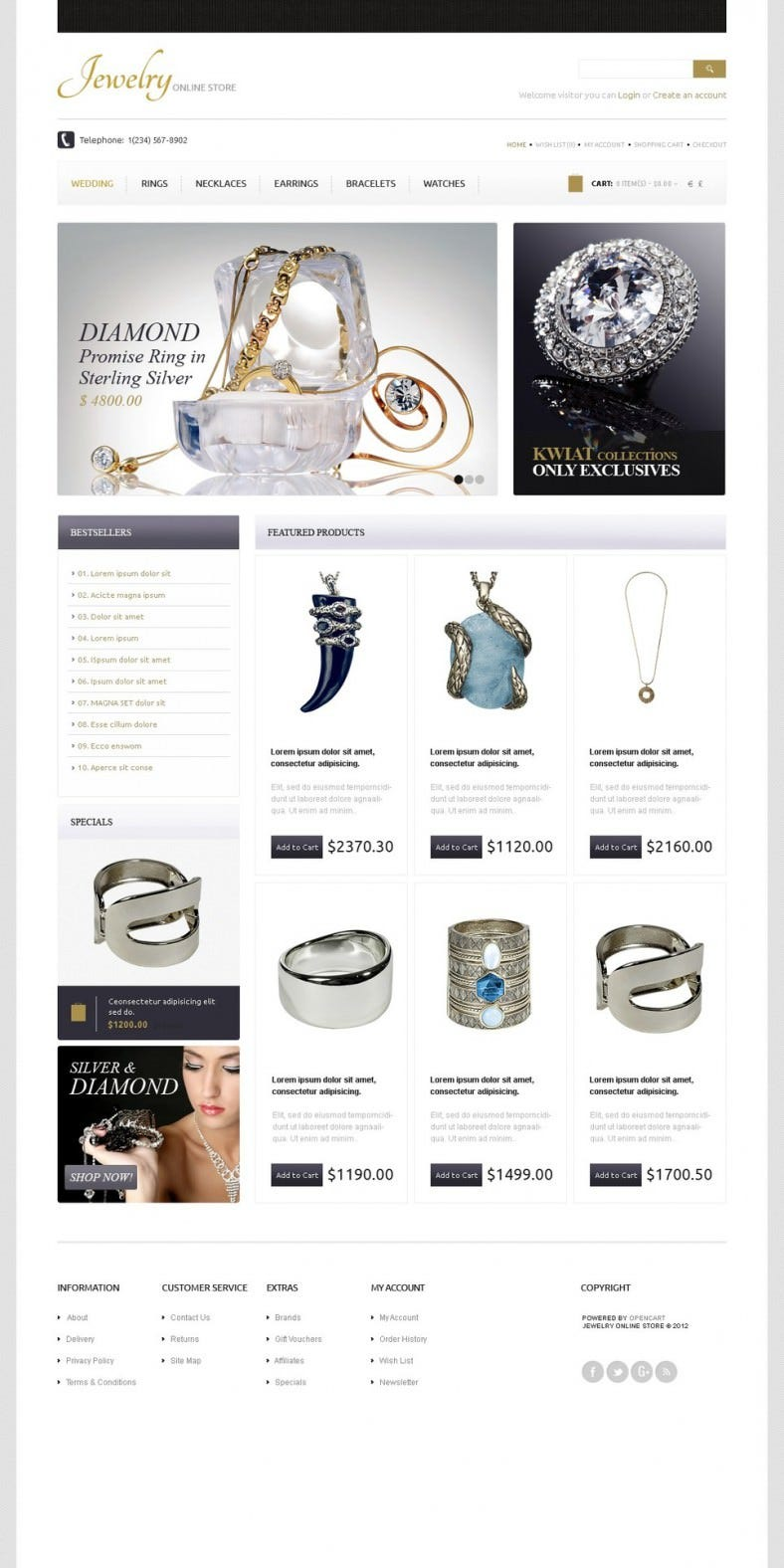 gold diamonds opencart template 788x1576