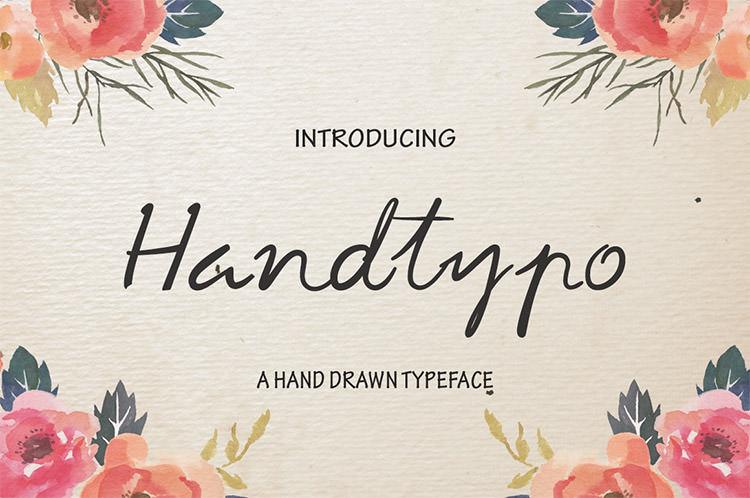 handtypo script handwritten font