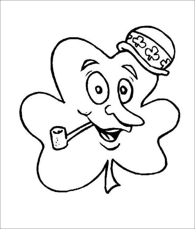 happy mr shamrock coloring page