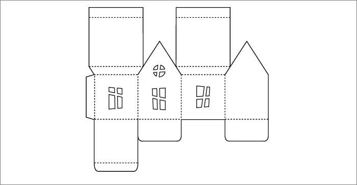haunted house luminary party template