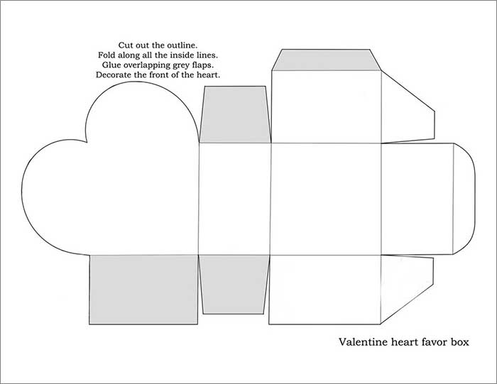 heart box template