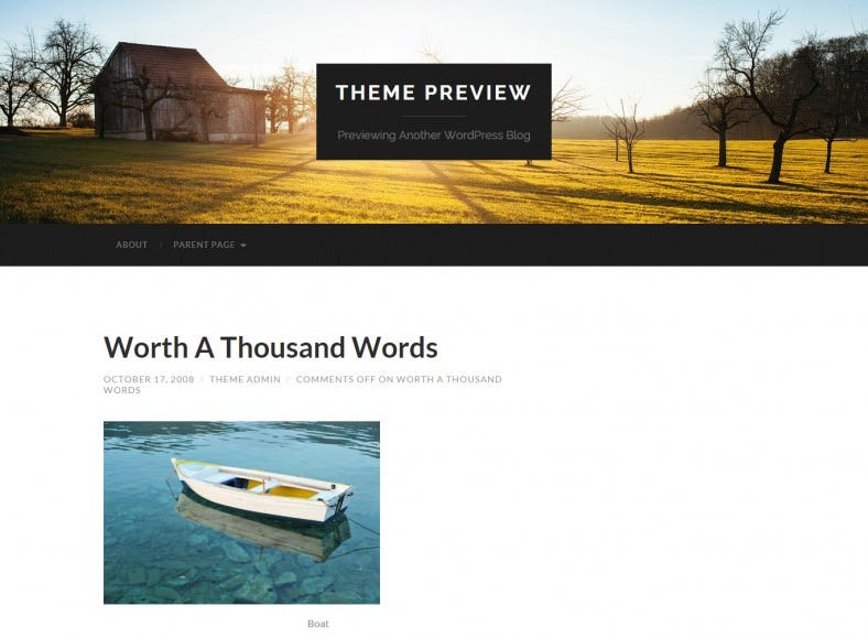 Parallax WordPress Template Free Download