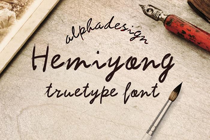 Hemiyong TrueType Font