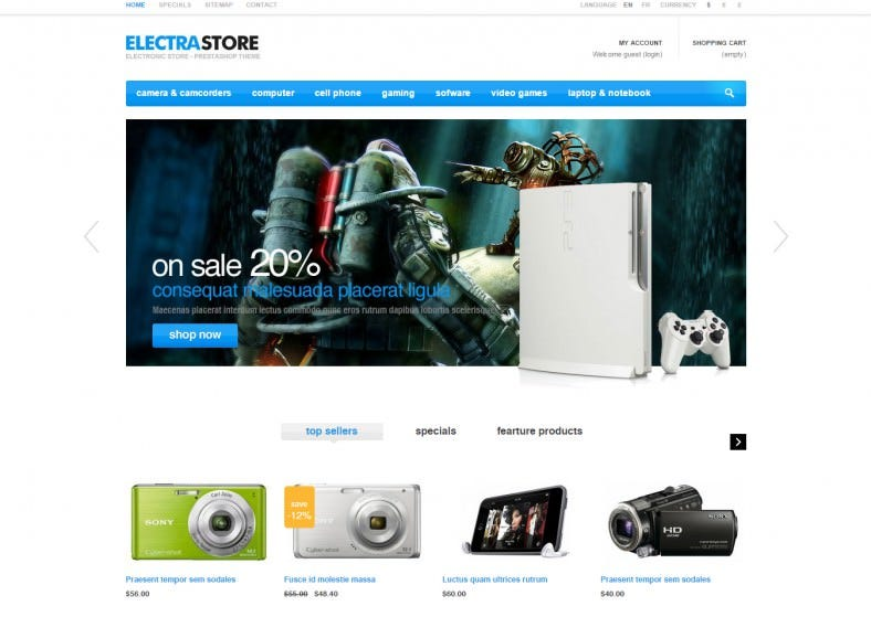 High Tech PrestaShop Theme