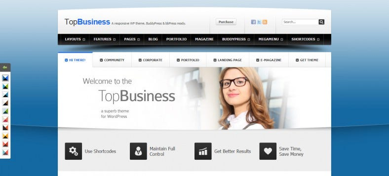 highly customizable wordpress and buddypress theme 788x357