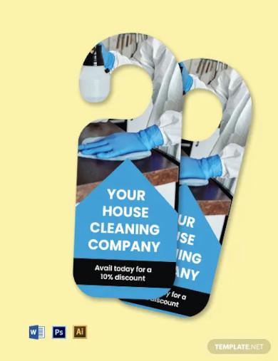 house cleaning door hanger template