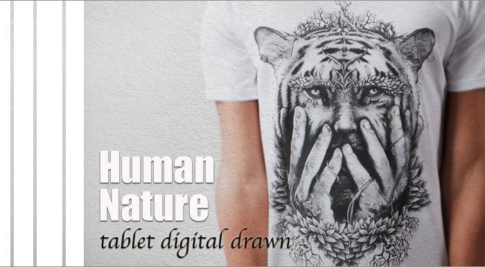 human nature t shirt