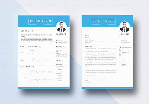 indesign bpo resume template