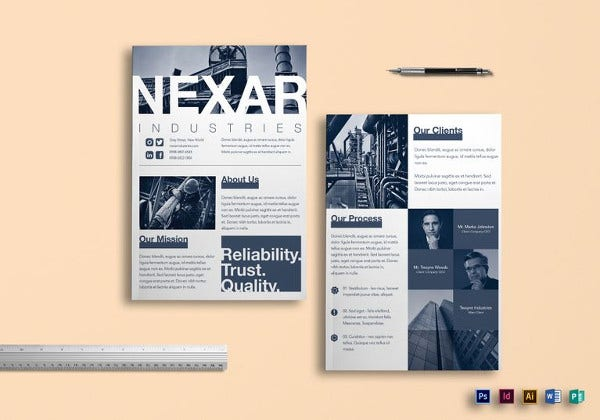 industrial brochure indesign template