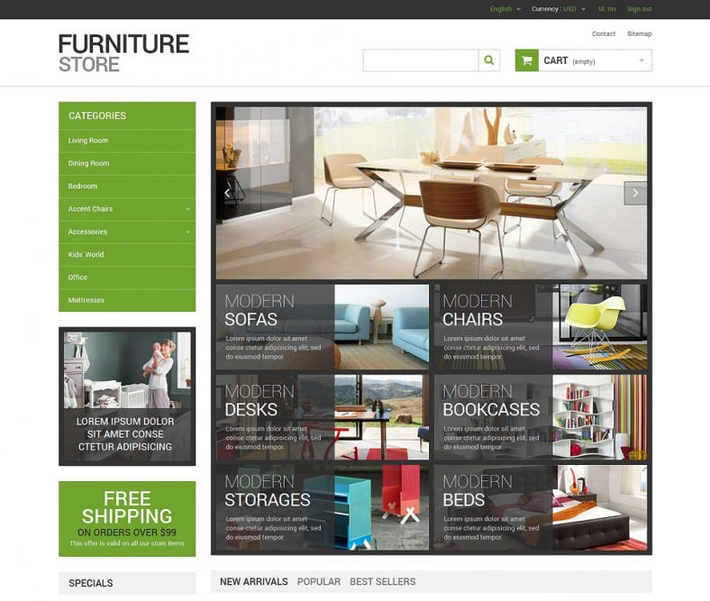Interior Design Furniture Store Prestashop Template