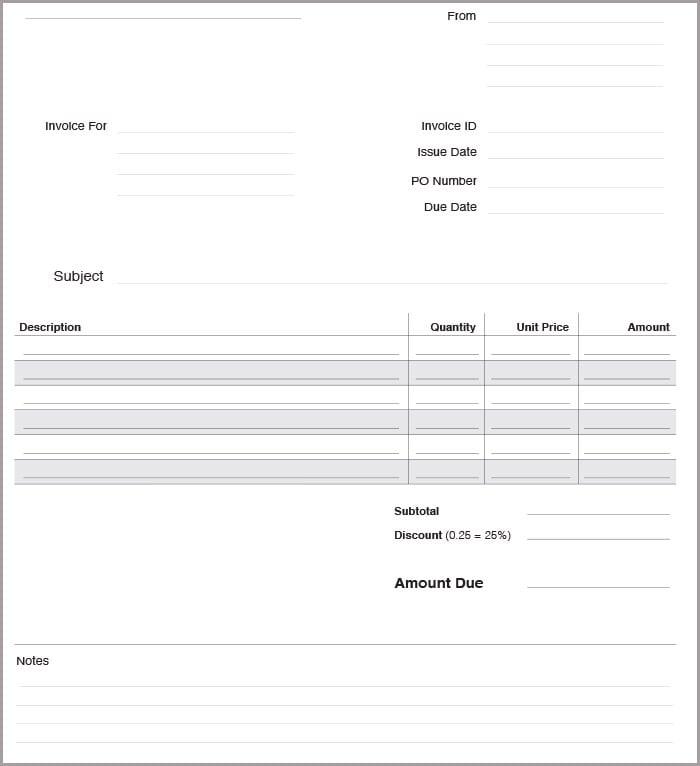 16+ free basic invoice templates | free & premium templates, Invoice examples