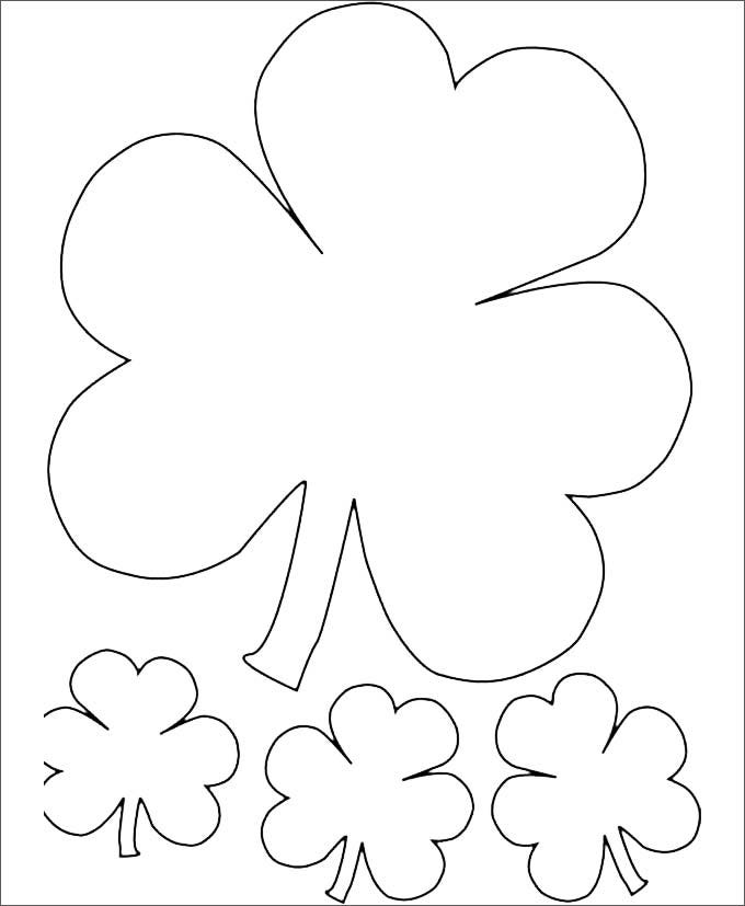 irishthree leaf clover free template