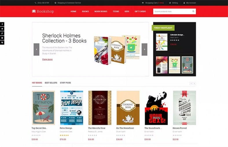 15+ Best Magento Bookstore Templates | Free & Premium Themes | Free ...