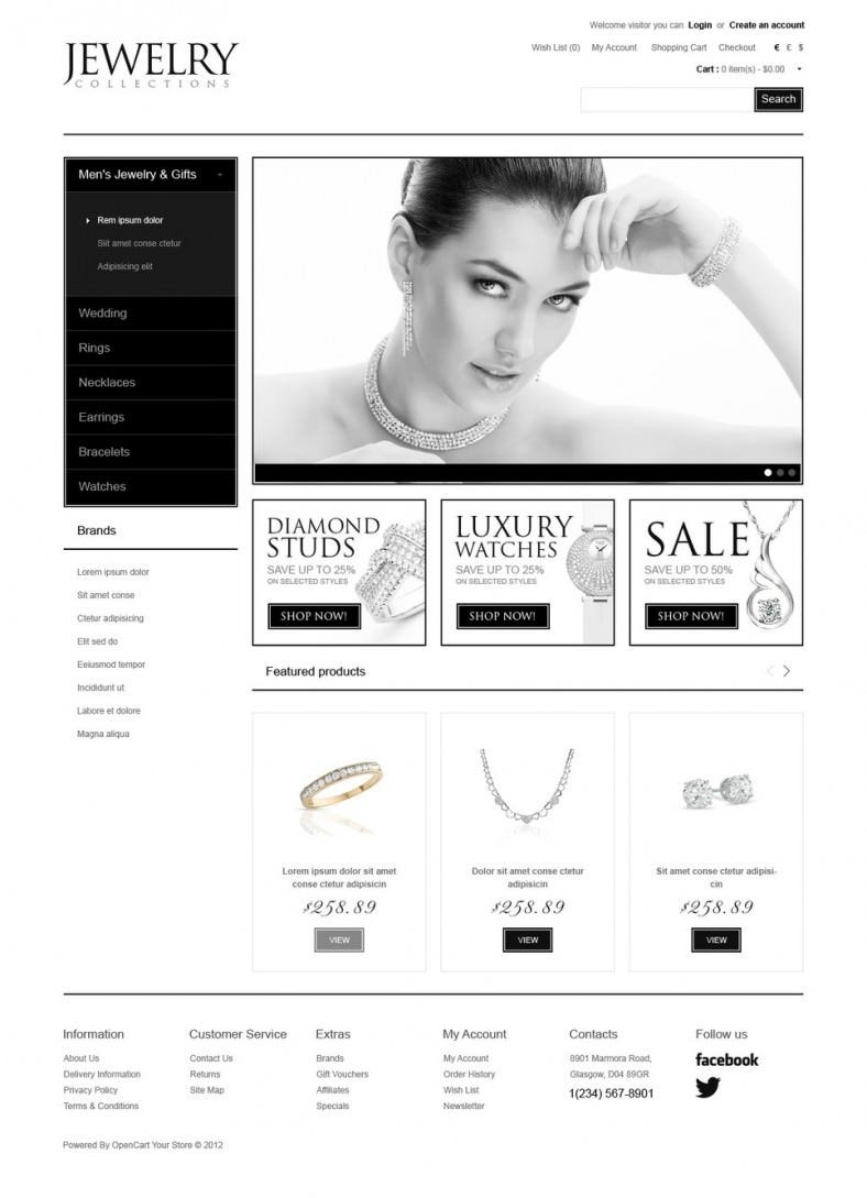 Jewelry Collections OpenCart Template