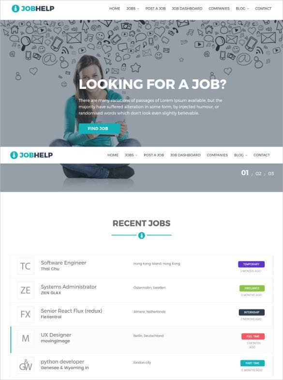 job-board-portal-wordpress-css-template