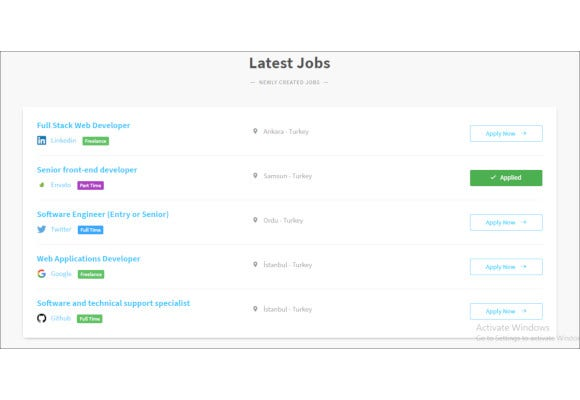 job postings html5 template
