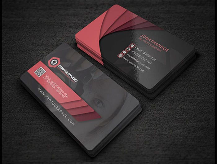 52 photography business cards free download free premium templates jonathandoe photographer card wajeb Image collections