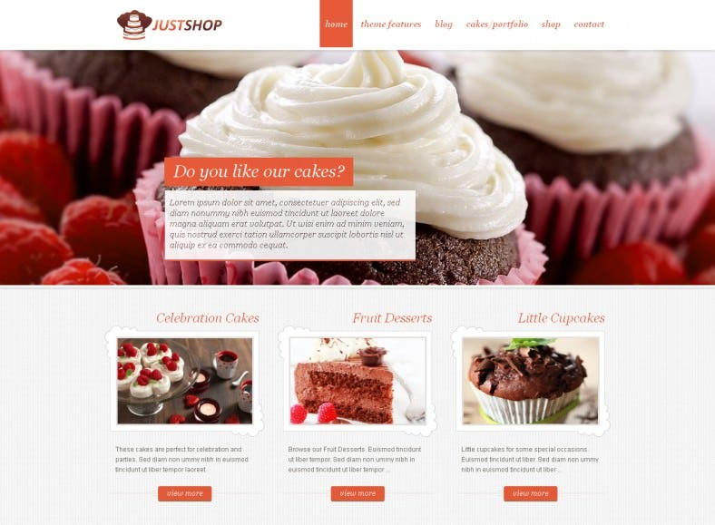 Cake Bakery WordPress Theme