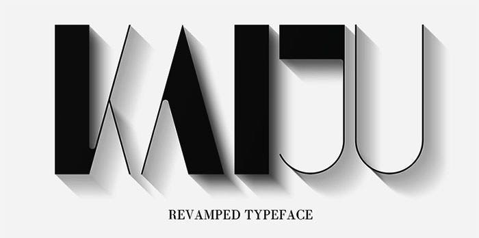 kaiju font on behance