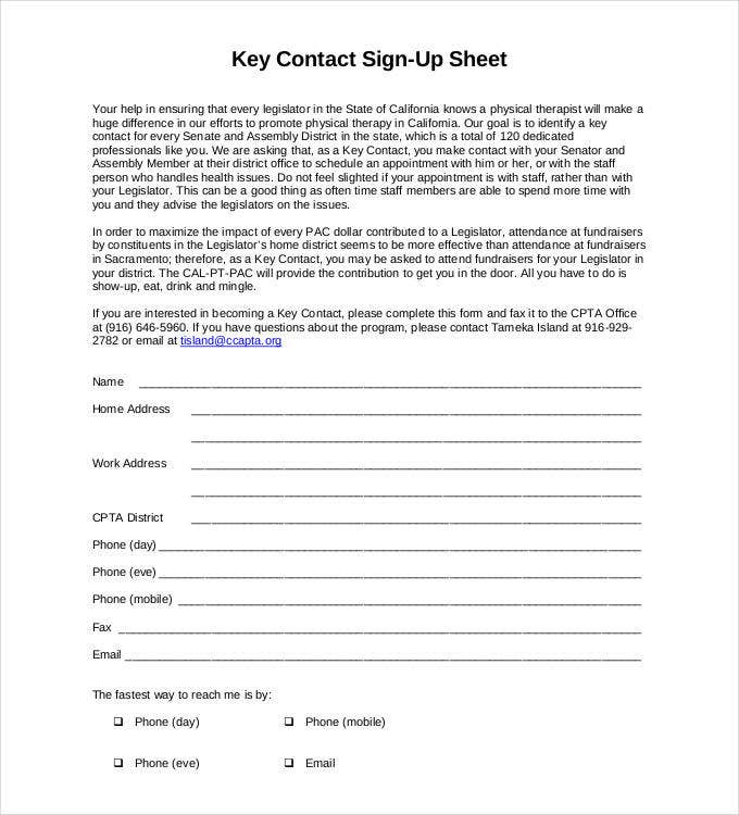 key-contact-sign-up-sheet