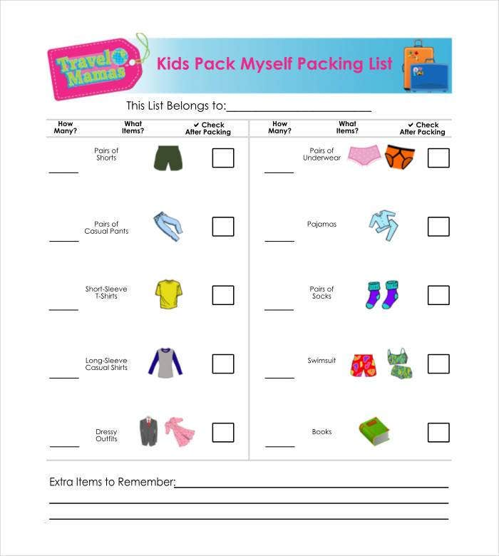 kids packing list1