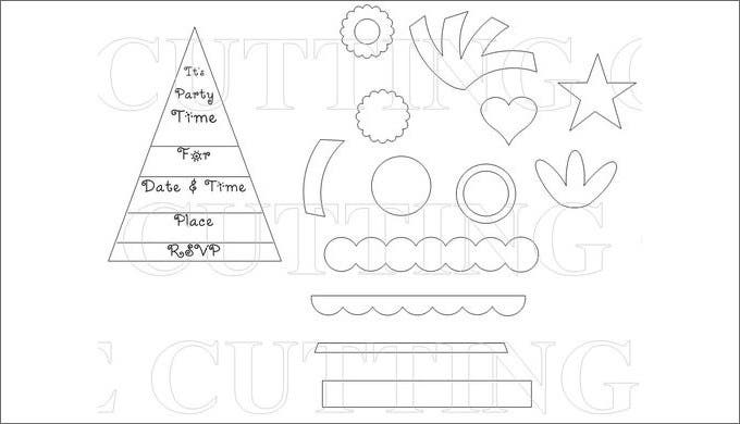 kids party hat template