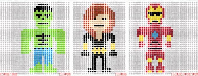 kirby pixel art template