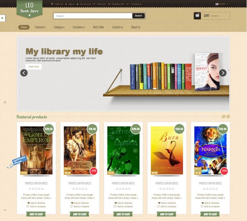 LEO BOOK PRESTASHOP THEME