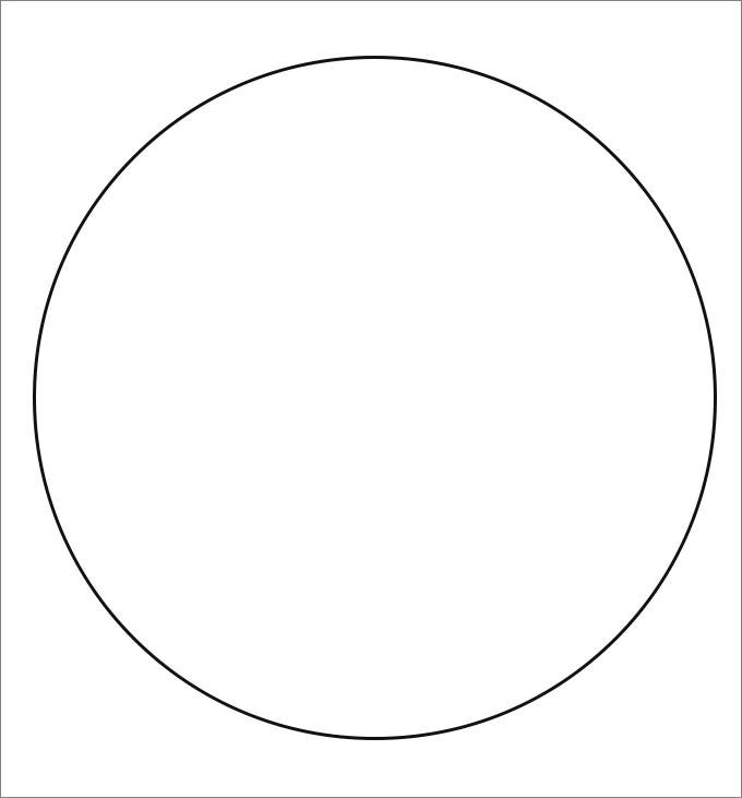 Circle Template on Blank Number Line To 10