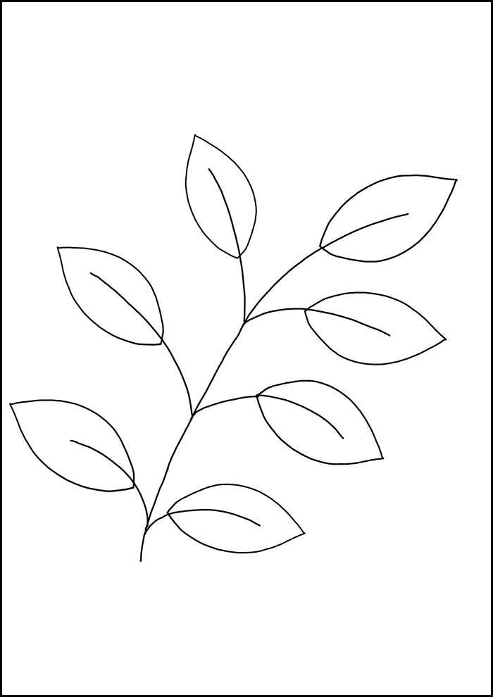 leaf printable free download