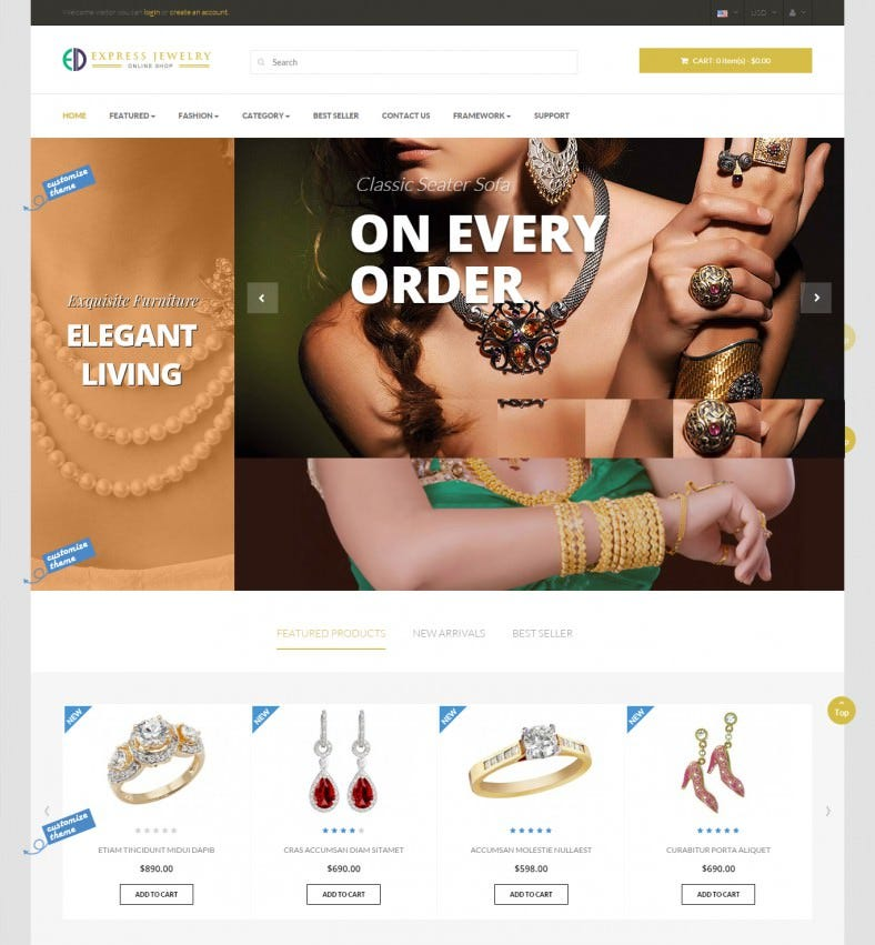 Responsive Prestashop Template for Designing Stuff