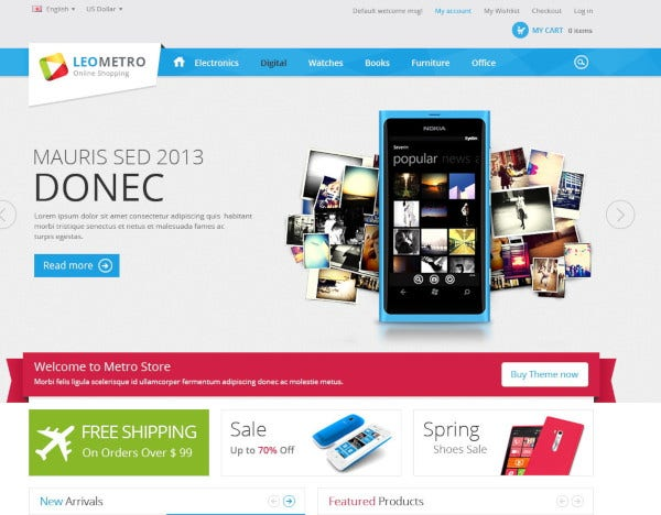 leo mobile electronic shop prestashop theme