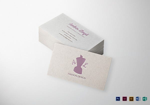 letterpress business card indesign template