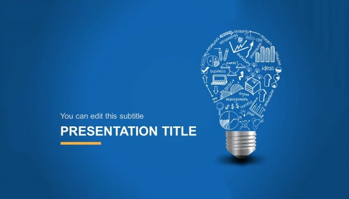 Creative powerpoint template 35 free ppt pptx potx documents light bulb idea creative powerpoint template toneelgroepblik Images