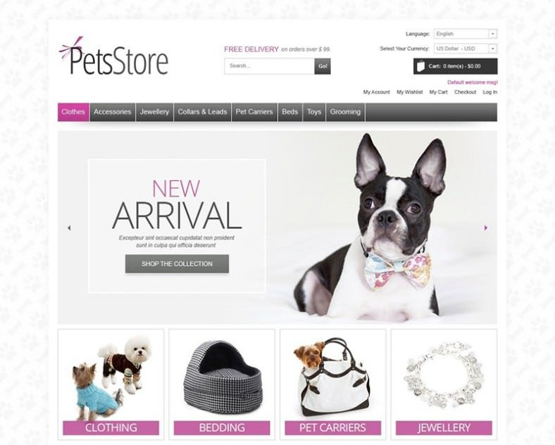 Light Tender Magento Theme for Pet Store